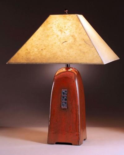 Russet glaze | Natural Lokta paper shade | 22 in. height