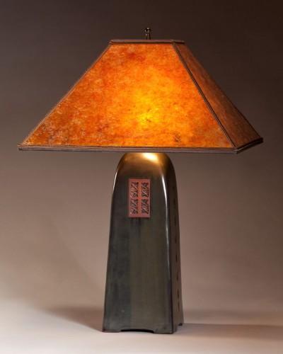 Onyx  glaze | Amber mica shade | 26 in. height