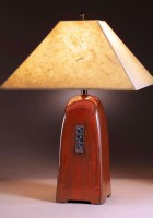 Russet glaze | Natural Lokta paper shade | 22 in. height
